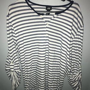 Men's H&M stripped T-shirt